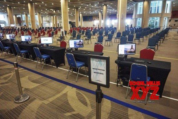 Empty registration desks are seen at Ngurah Rai International Airport in Bali, Indonesia, Oct. 14, 2021 #Gallery