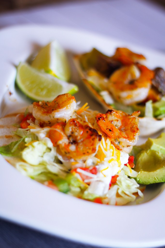 shrimp and beef tacos