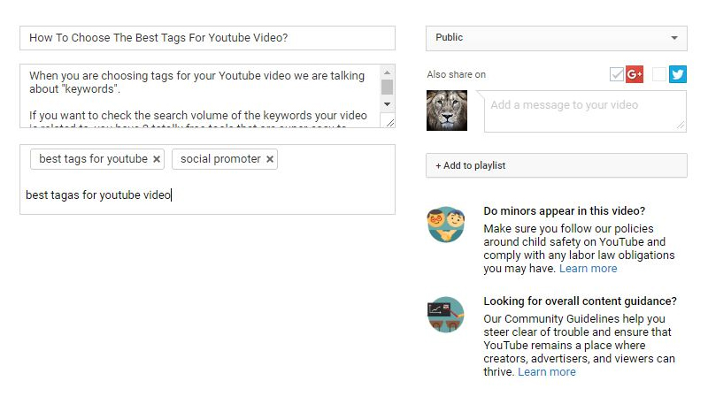 How to choose the best YouTube keywords and tags to get more