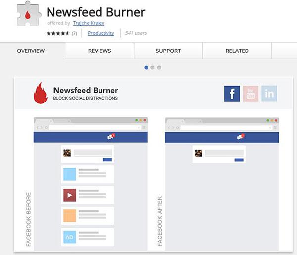Newsfeed Burner App