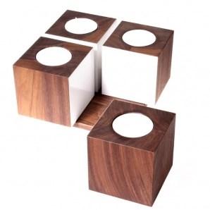 bloc de bougies de 4 cubes