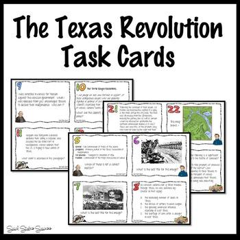 Texas Revolution Task Cards for Texas History 7th Grade