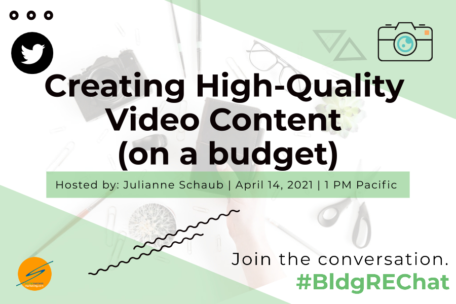 video content on a budget Twitter chat