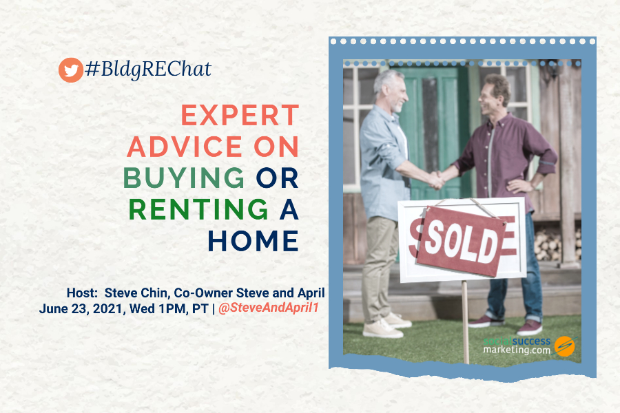 buy or rent home twitter chat