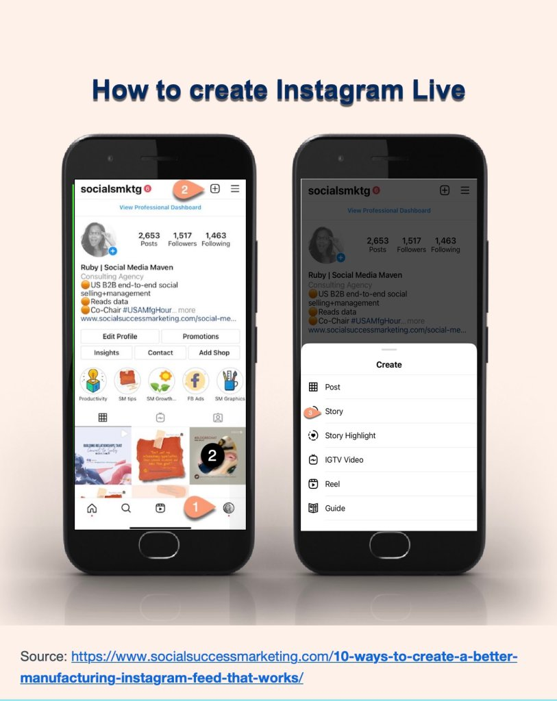 how to instagram live