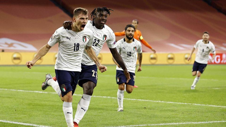 Il gol dell'Italia contro l'Olanda