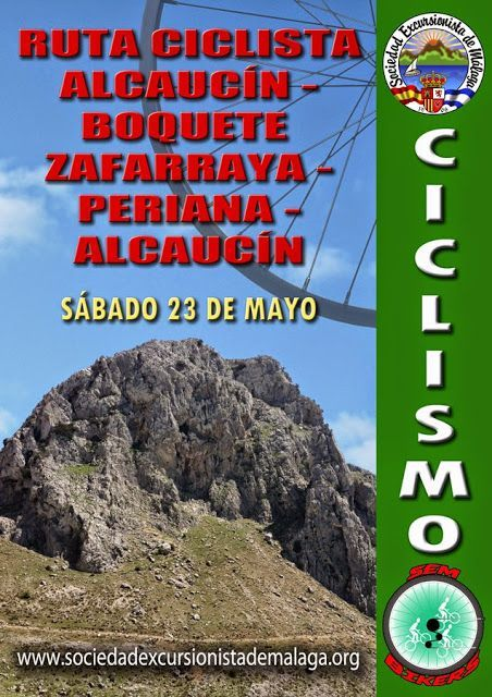 Ruta ciclista, Alcaucín, Zafarraya, Periana, Alcaucín, sábado 23 de mayo.