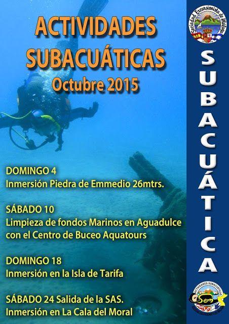 Actividades subacuática octubre 2015