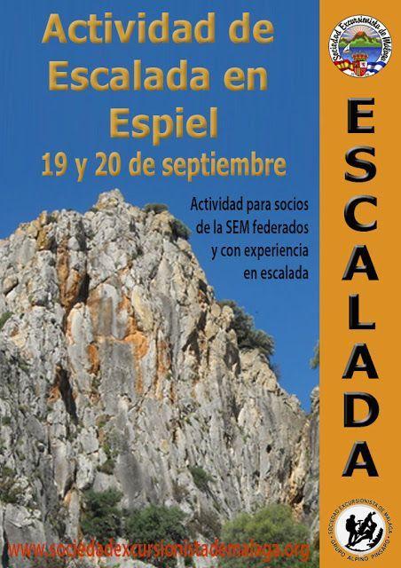 Escalada en Espiel (Córdoba), 19 y 20 de septiembre
