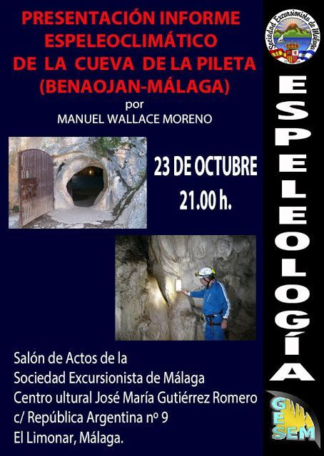Presentación informe   Espeleoclimático   De  la  cueva  de la pileta (benaojan-málaga) Por Manuel Wallace Moreno