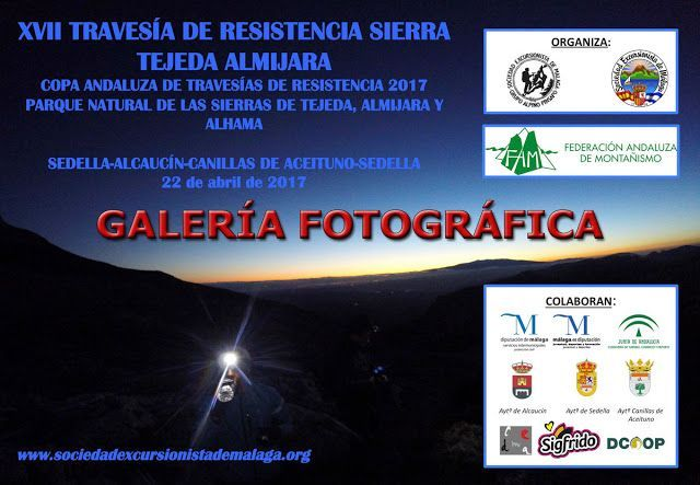 XVII Travesía de Resistencia Tejeda Almijara, galería fotografica