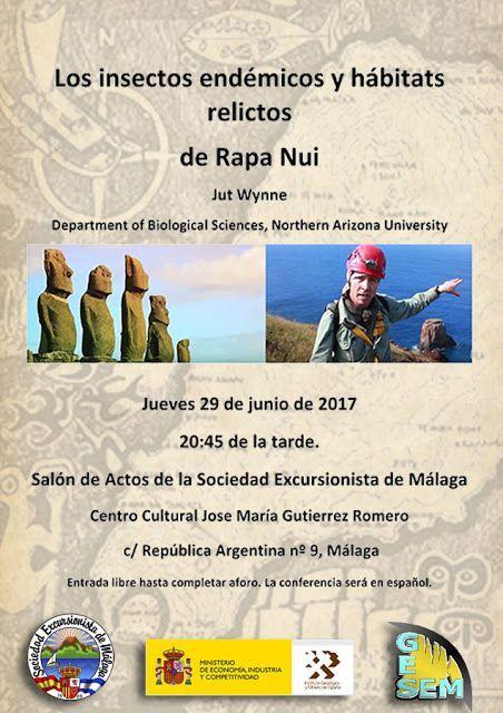 Conferencia: Los insectos endémicos y hábitats relictos  de Rapa Nui, jueves 29 de junio