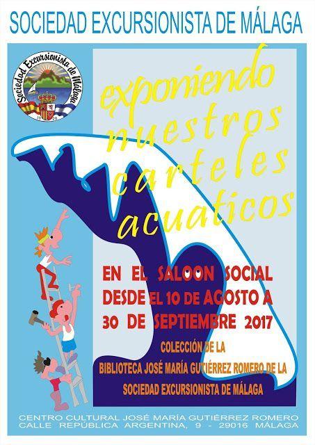 Exposición de carteles acuáticos en el Salón Social