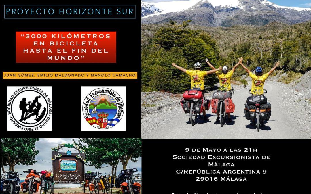 Conferencia Proyecto Horizonte Sur. 3000km en Bicicleta hasta el fin del mundo
