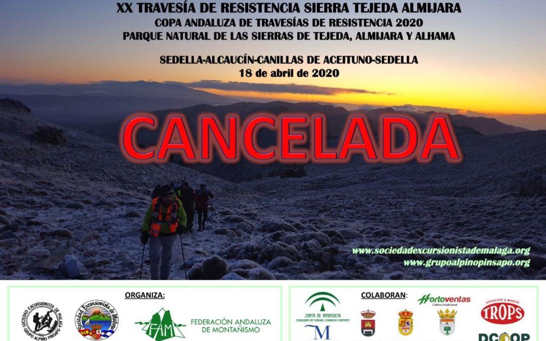 XX Travesía de resistencia Sierra Tejeda y Almijara