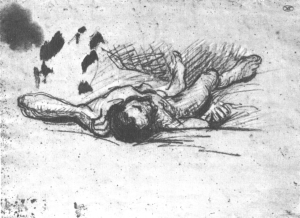 C0081 Homme étendu sur le sol 62-65