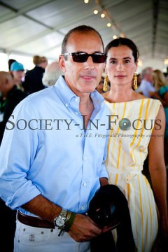 Matt Lauer and Annette Lauer at the Hampton Classic