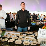 Chef Tyler Pitman with Grilled Oysters
