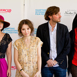 Stine Fisher Christensen, Emily Browning, David Nugent, and Ezra Miller