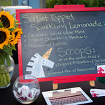 Sorbet Topped Sparkling Lemonade - Gourmet Sorbet by the Sorbabes