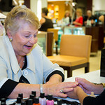 Beverly Fishler gets manicure