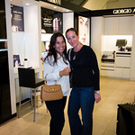 Francesca Tonon and Jami Lynne Denaro shopping at Giorgio Armani