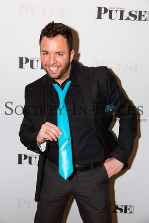 "Matthew Ambrosio Showing Off His Ambro Style ""Caribe Chico"" Tie at the Long Island Pulse February Cover Party"