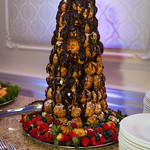 Chocolate Drizzled Croquembouche