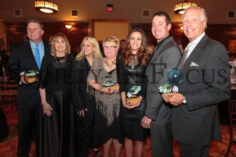 Senator Jack Hart, Lynn Bozof, Rita Cosby, Cindy Krejny, Samantha Busch, Kyle Busch, and Dr. William Schaffner