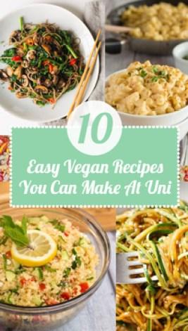 10 Easy Vegan Recipes You Can Make At Uni