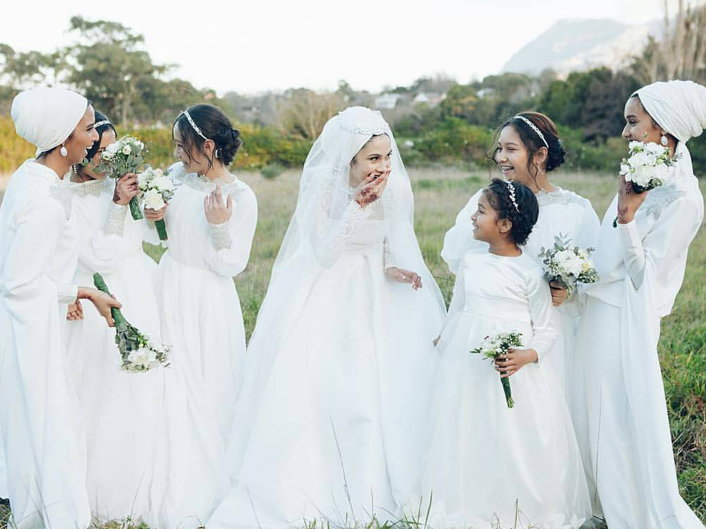 In each different culture, there is a different common look for the bride at weddings. Wedding Hijab styles are no different in the Muslim culture. Ranging from embroidered to sequined to different variations of hues, the wedding Hijab is a major statement for the brides look.