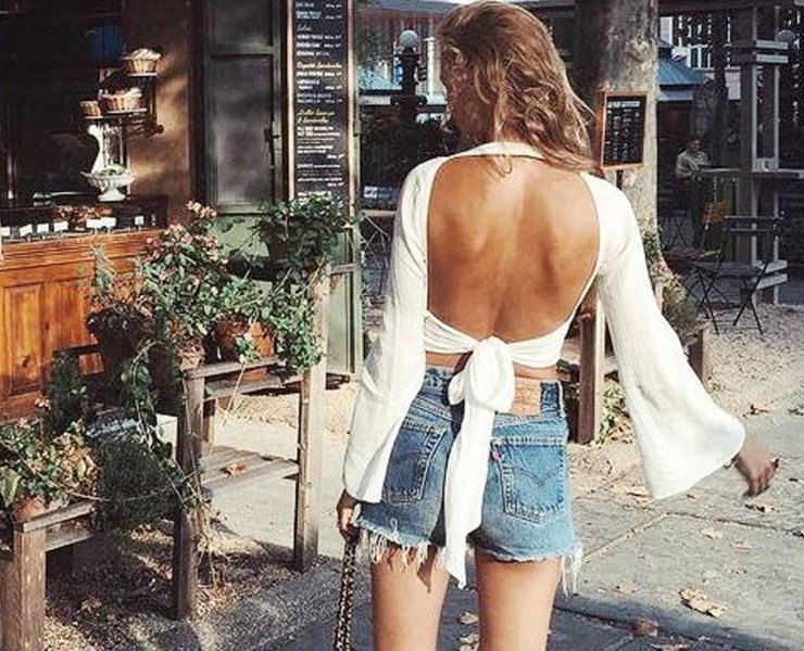 Women's backless tops are super cute for the summer season! Here are a look at our current favourites to wear day or night!