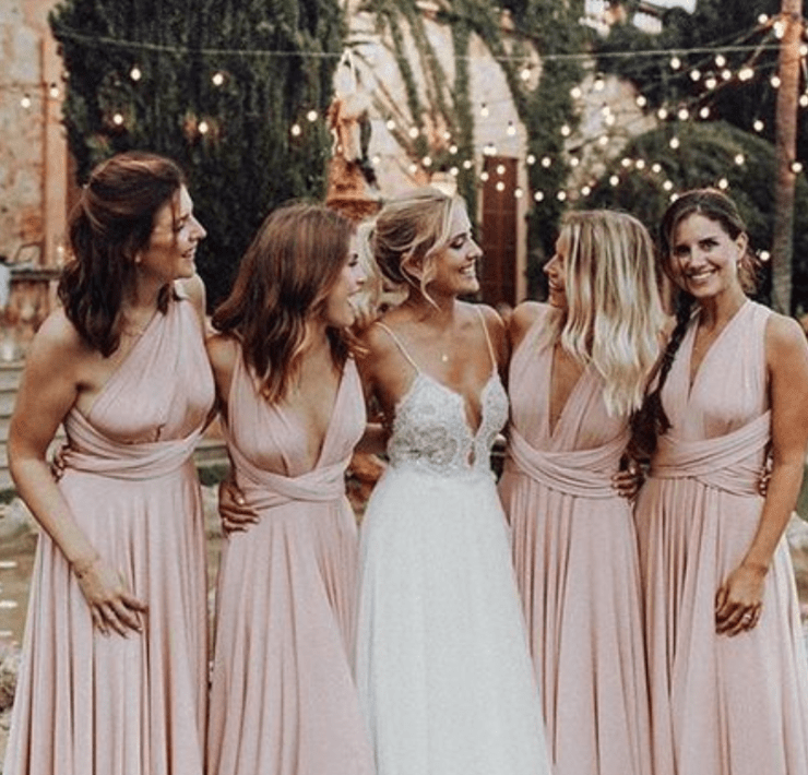 Don't know what to wear as a bridesmaid? No worries! Here are 10 bridesmaid dresses that will show off the bridesmaids without upstaging the bride!