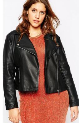 ASOS CURVE Ultimate Biker Jacket In Leather