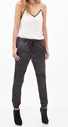 Faux leaher pants