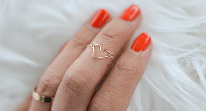 DIY Heart Shaped Ring