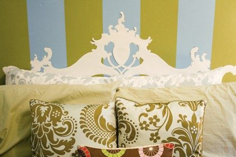 DIY Paper Headboard from the Lovely Side