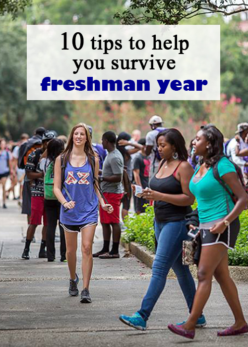 tips to help you survive freshman year pin