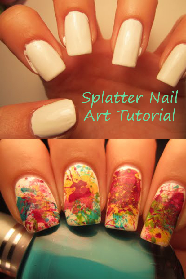 Looking for a fun and easy nail art tutorial? Check out this splatter nail art tutorial to give a go for your next do it yourself mani!