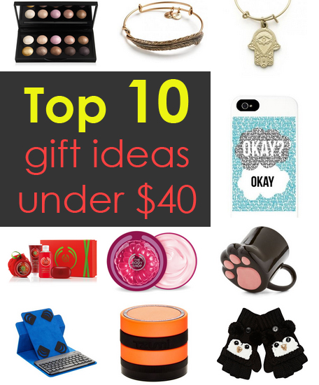 These are 10 awesome gift ideas under $40!