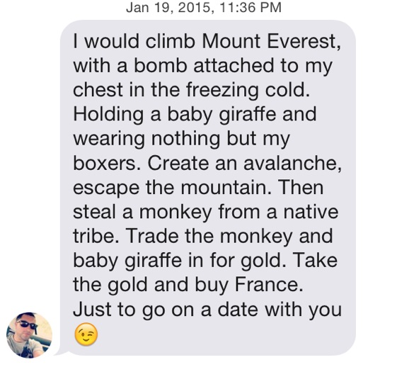 Funny Tinder Messages - A lot of work