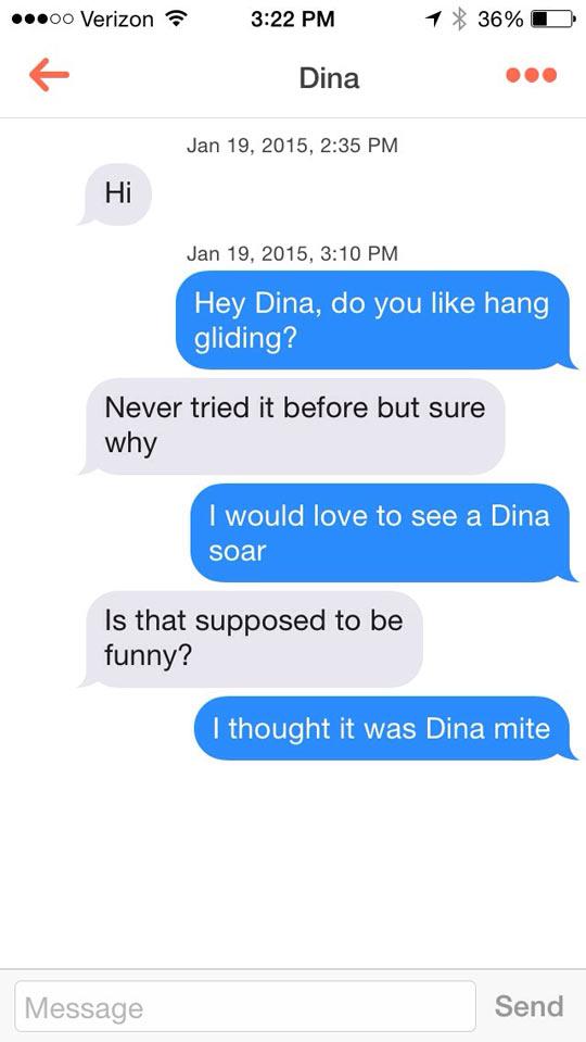 Funny Tinder Messages - Dina