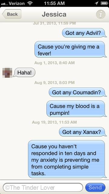 Funny Tinder Messages - Medication