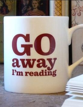 Gifts for Book Lovers - Go away im reading mug