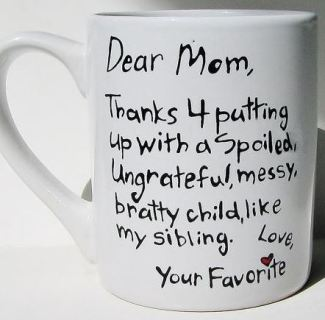 The Perfect Mother's Day Gifts - Handwritten mug