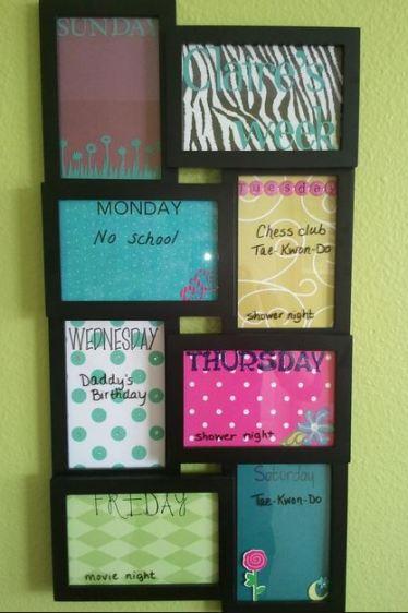 DIY week organize