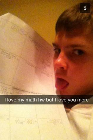 Perfect Snapchats - math homework