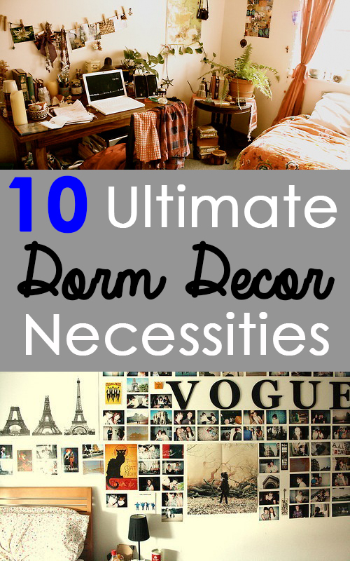 Things To Get You Started  Ultimate Dorm Decor Necessities Photo Board The