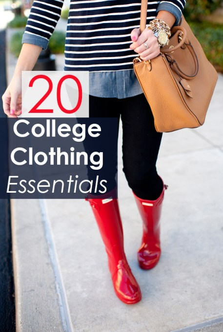 20 Clothing Essentials for Your College Wardrobe
