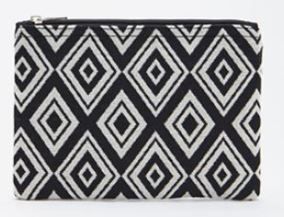 Forever 21 Diamond Patterned Zippered Clutch